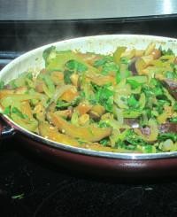 Eggplant fajitas picture